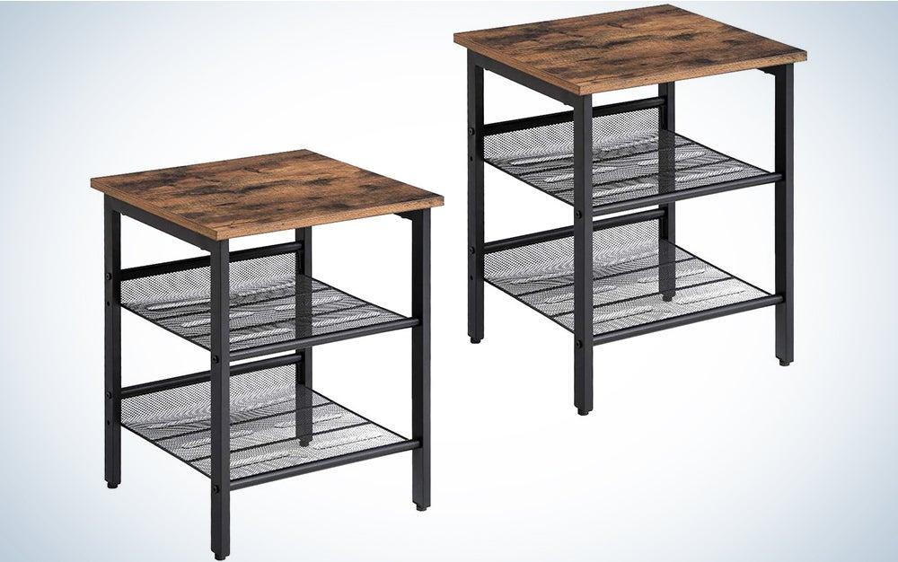 Vasagle Nightstand, Set of 2 Side Tables