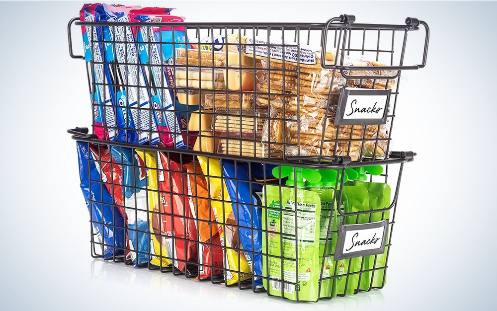 Stackable Wire Baskets For Pantry