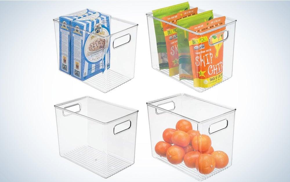 mDesign Plastic Kitchen Pantry Storage Bins
