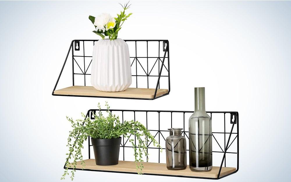 Mkono Set of 2 Wall Floating Shelves