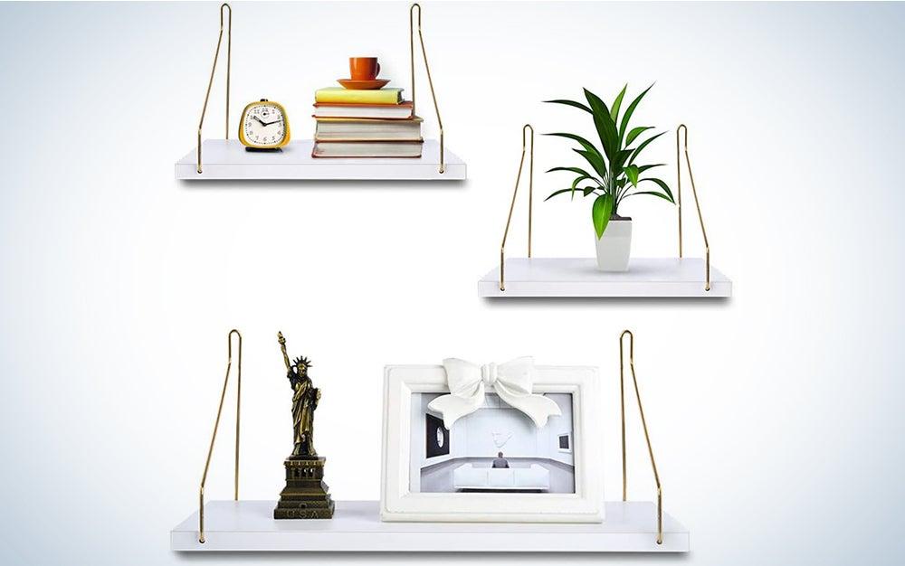 Uarter White Floating Shelves