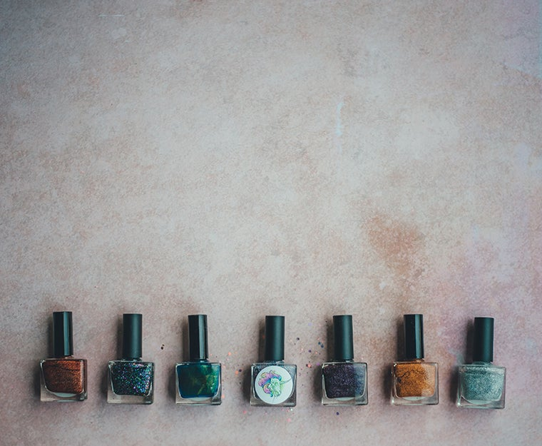 nail polish bottles on a surface