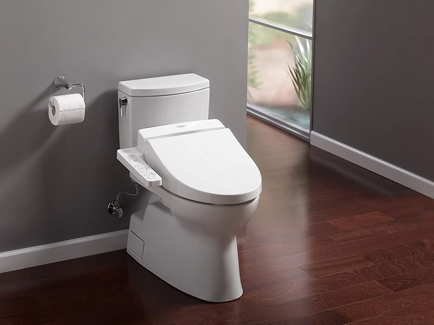 bidet on a toilet
