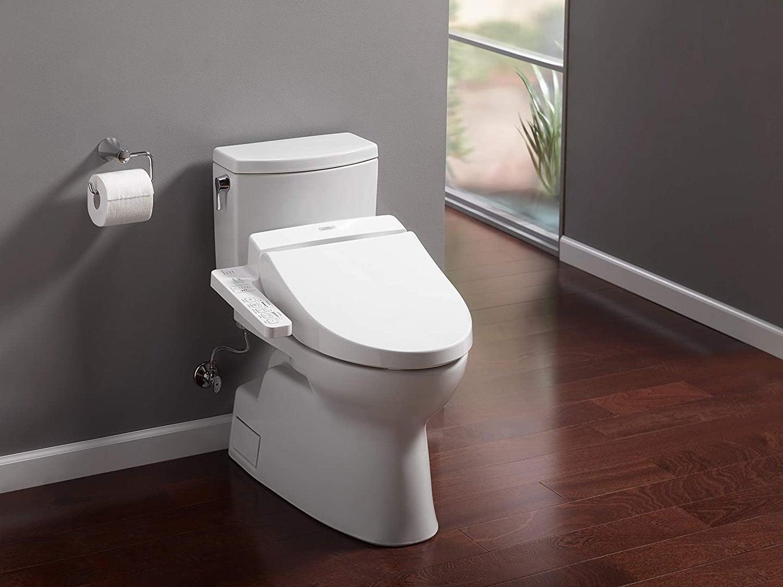 bidet on a toilet