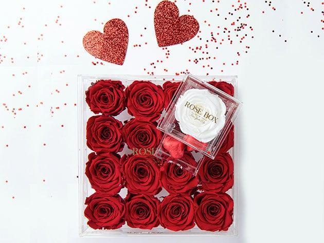 Rose Box™ Premium Jewelry Box & Everlasting Roses