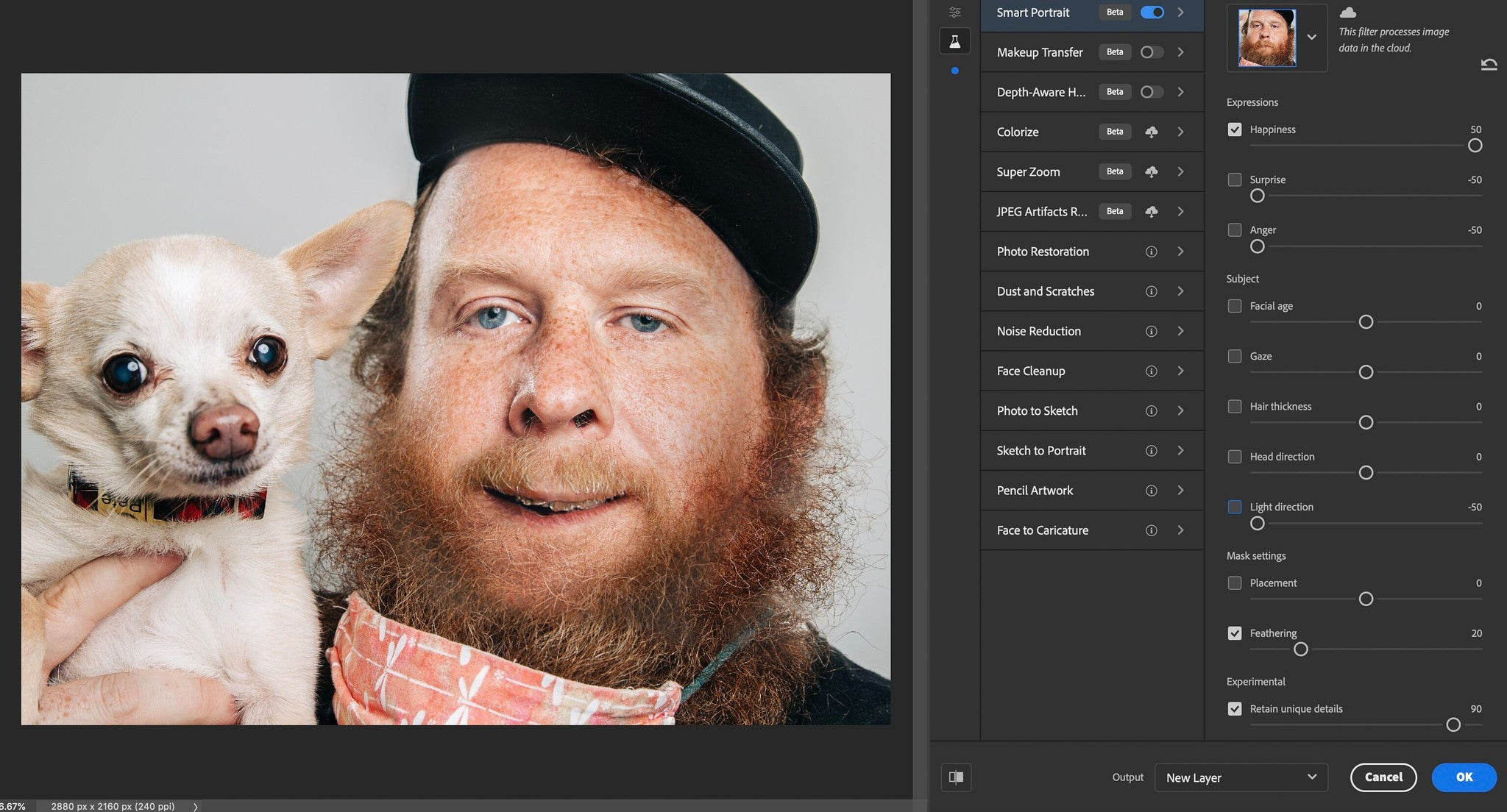 Adobe Photoshop Neural Filters