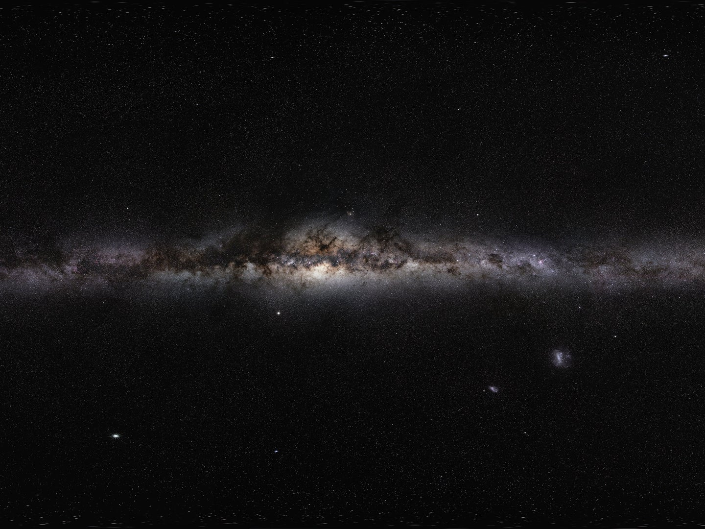 a panoramic of the milky way