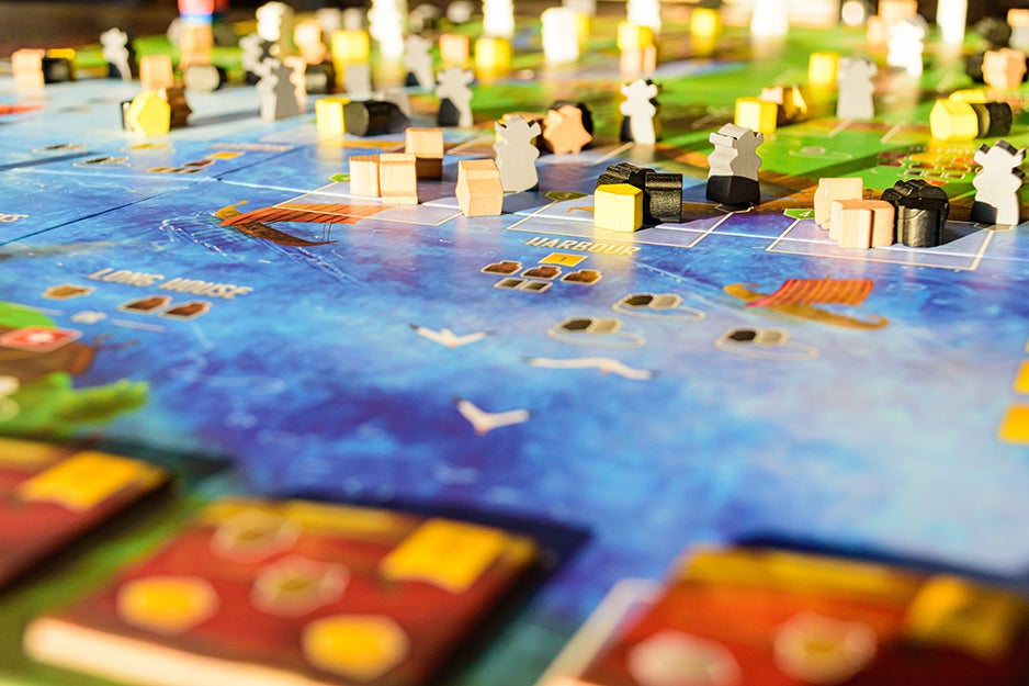 board game with water