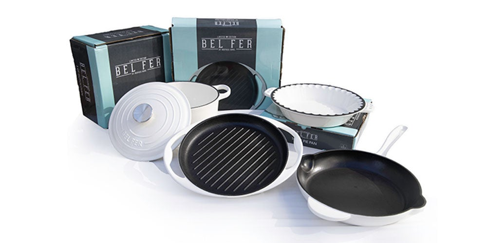 Inspired Home 5-Piece Enameled Cast Iron Cookware + Bakeware Set