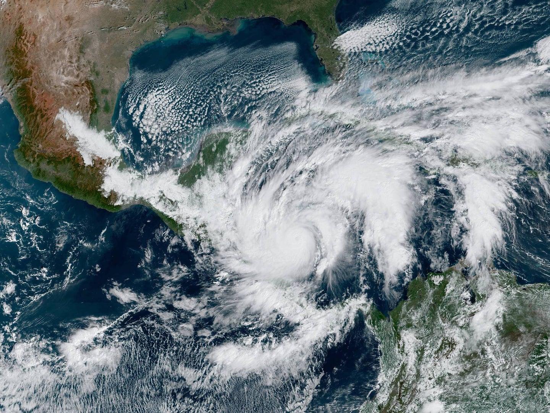hurricane eta as seen from satellites on nov 3, 2020