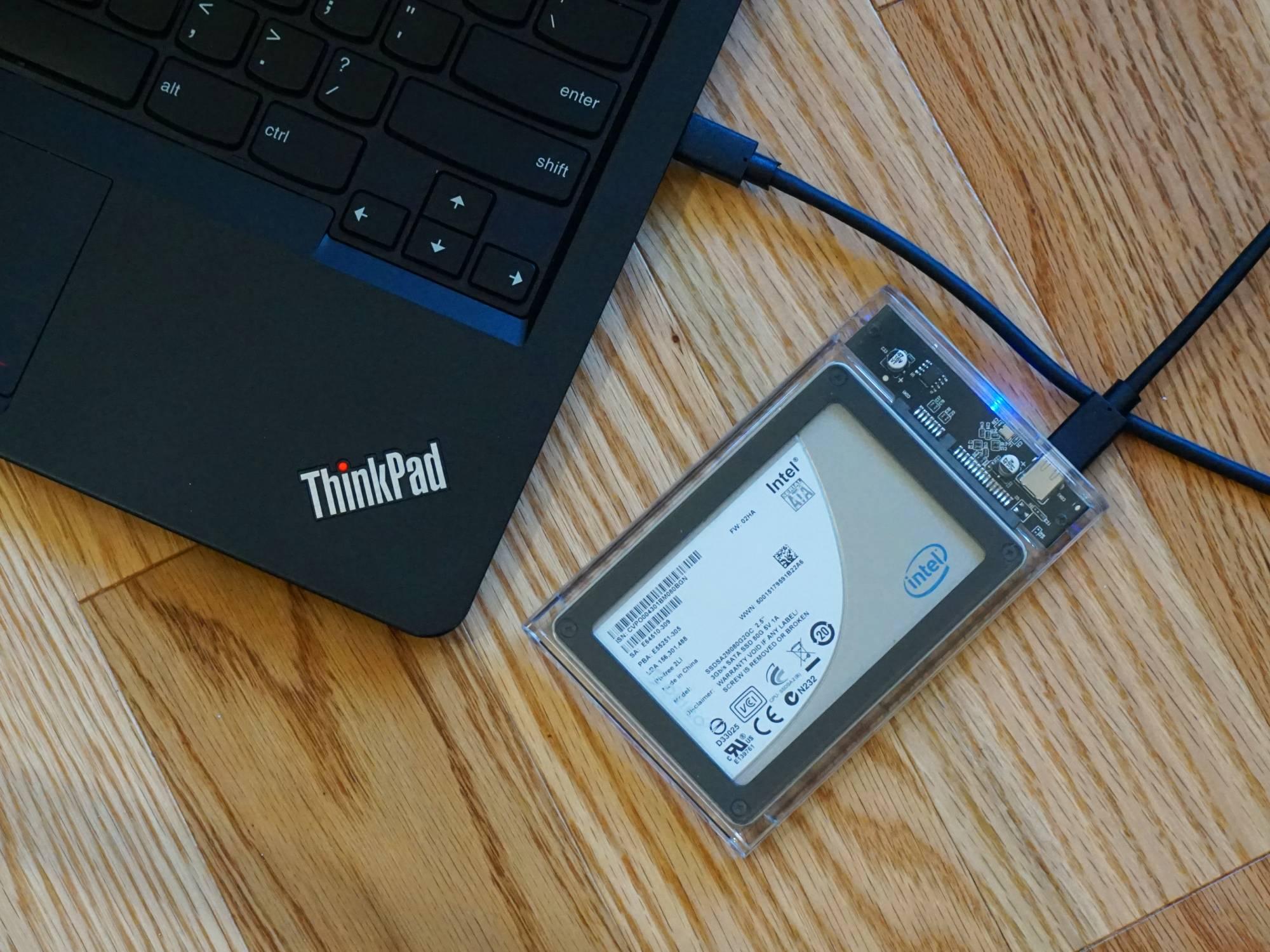 DIY external hard drive