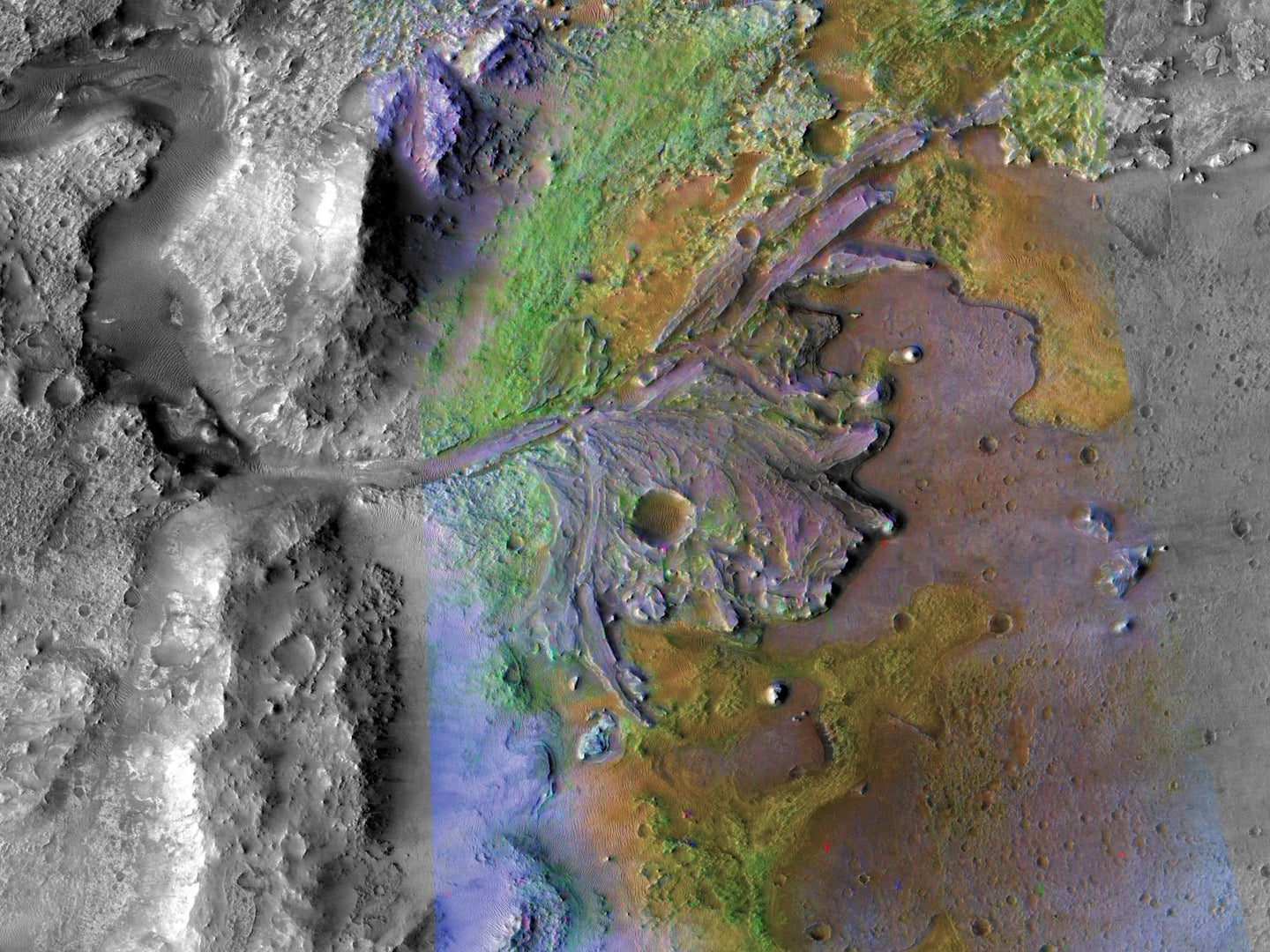 Jezero Crater, the destination of the Perseverance rover, is one of many sites on Mars where ancient water flowed, suggesting that the planet once had a thicker atmosphere.