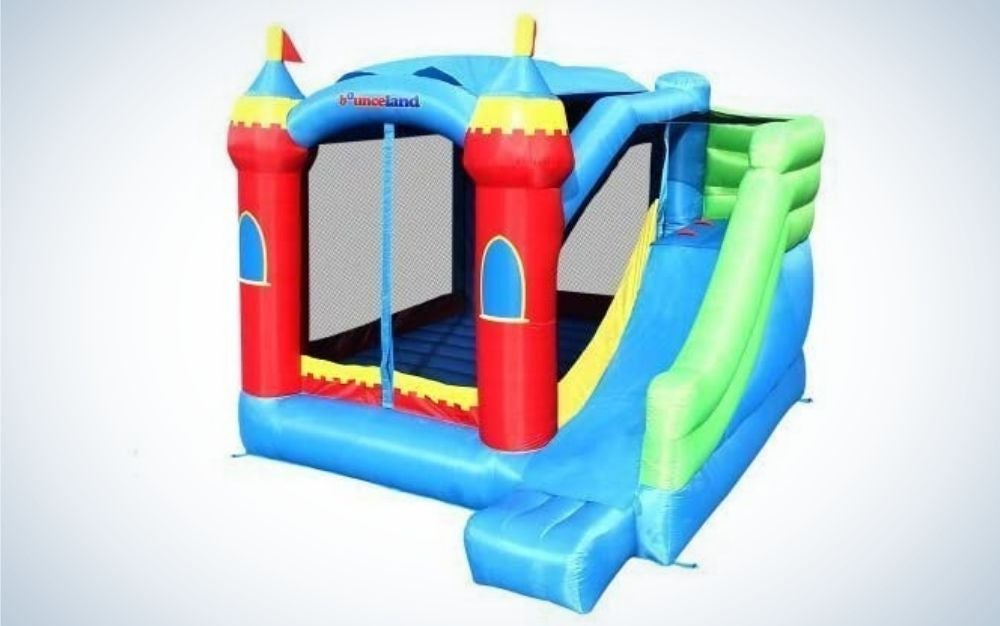 Colorful royal palace inflatable bounce house