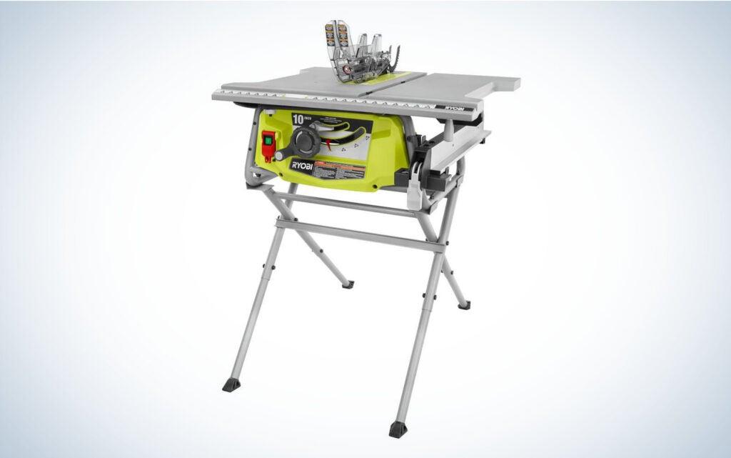 RYOBI Table Saw with Folding Stand