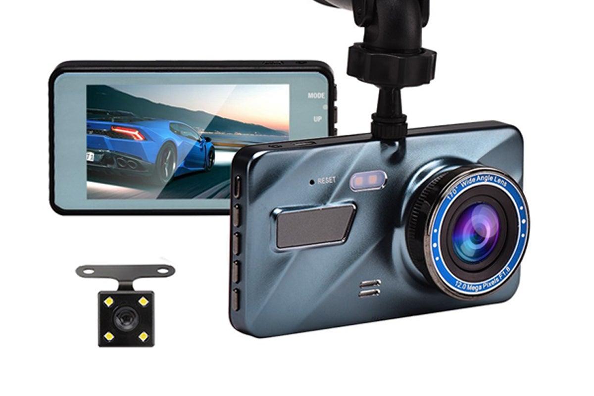The BlackBOX 1080p HD Dual Lens Dash Cam