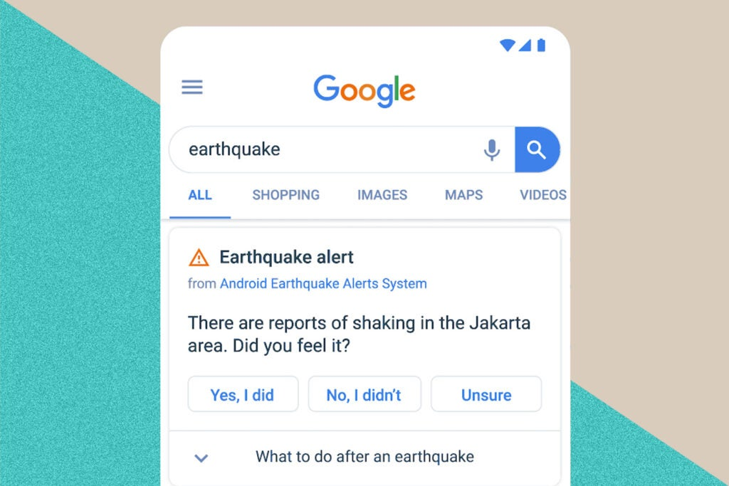 Google/Alphabet Android Earthquake Alerts System