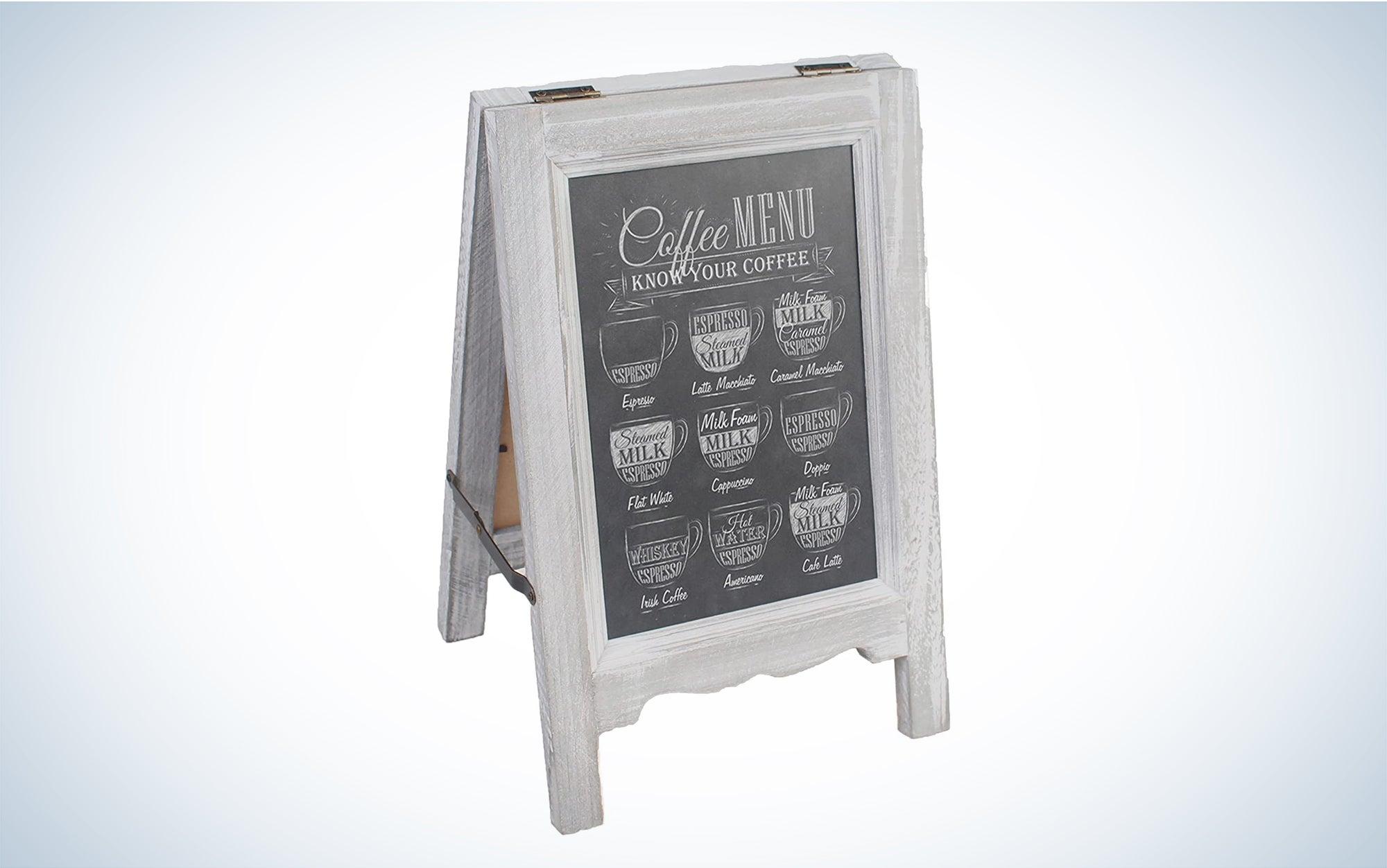 Mini Tabletop Wooden A-Frame Double-Sided Slate Chalkboard