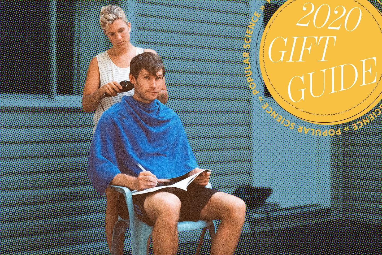 Person getting haircut