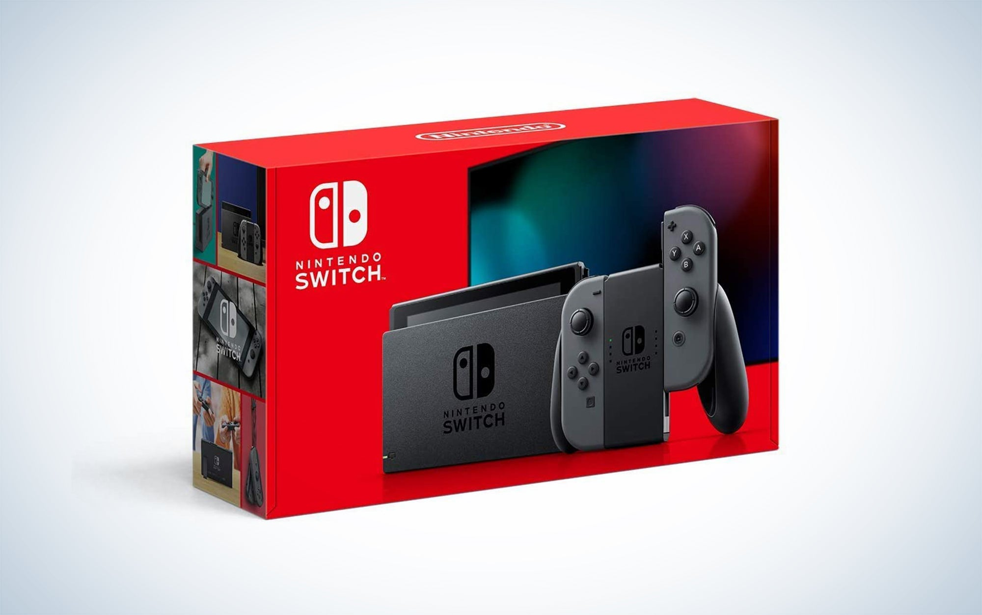 Nintendo Switch console and Nintendo Switch controller.