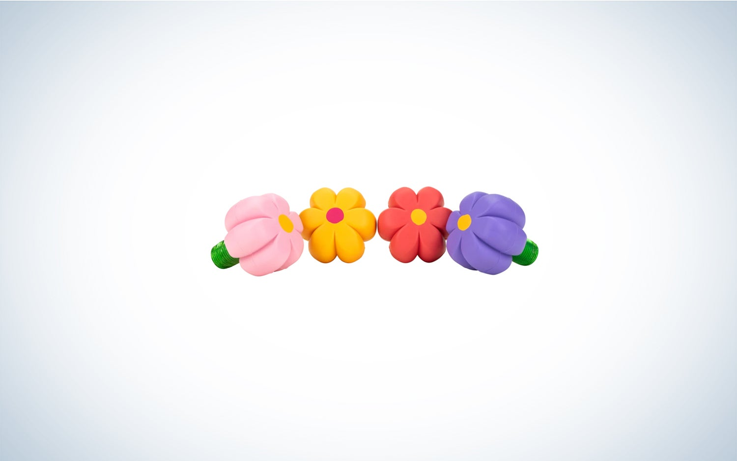 four flower-shaped rubber toe stops