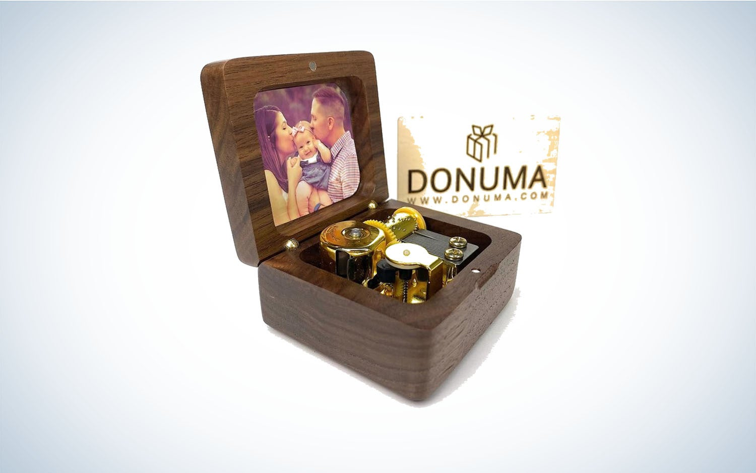 Product image of wooden photo music box