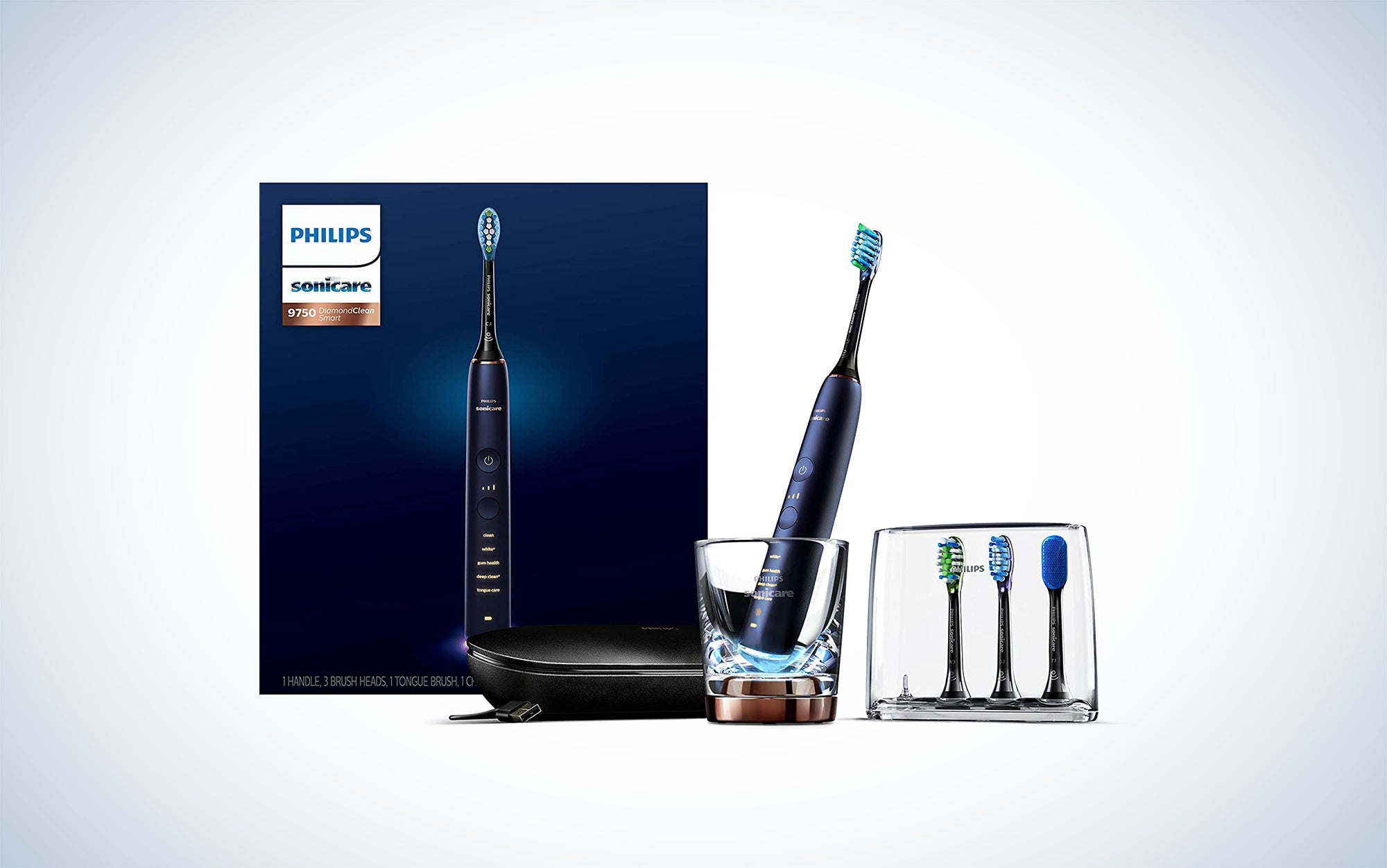 Philips Sonicare DiamondClean Smart 9750 Rechargeable Electric Toothbrush is one of the best Philips electric toothbrush options.