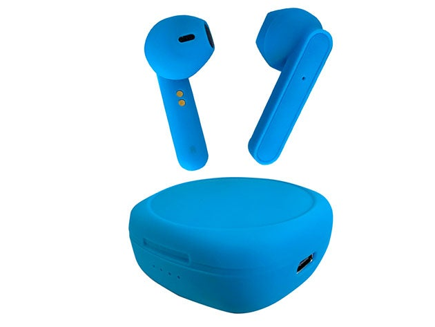 Rubberized Wireless Earbuds + Charging Case