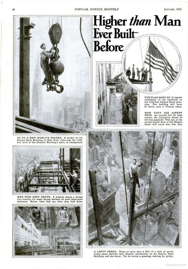 A scanned article from the January 1931 issue of Popular Science
