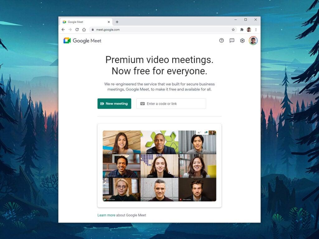 a screenshot of Google Meet