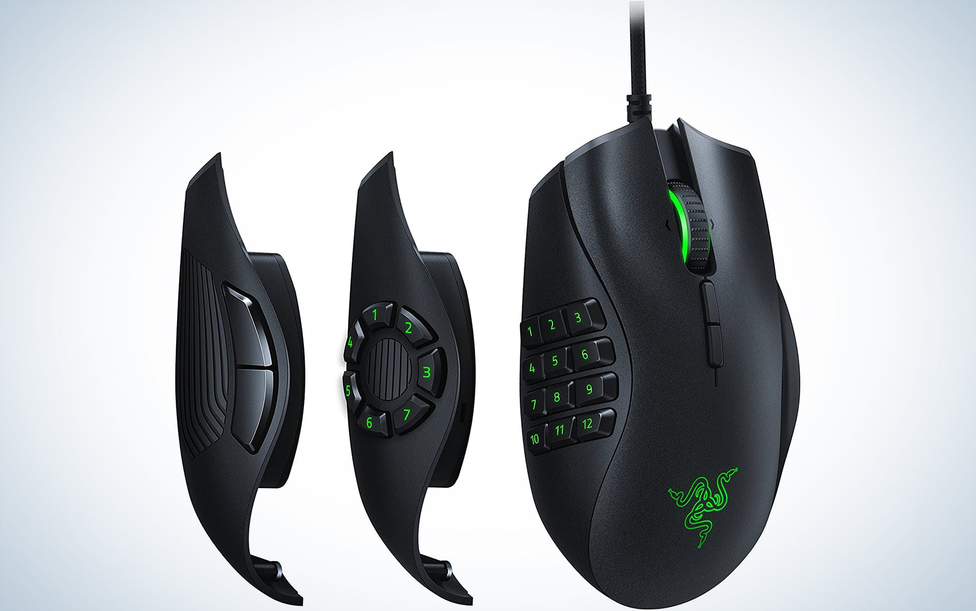 Razer Naga Trinity Gaming Mouse: 16,000 DPI Optical Sensor - Chroma RGB Lighting - Interchangeable Side Plate w/ 2, 7, 12 Button Configurations - Mechanical Switches is a favorite among gamers.