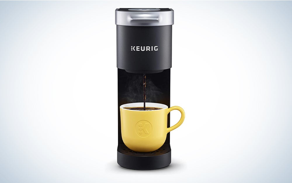Keurig K-Mini Coffee Maker, Single Serve K-Cup Pod Coffee Brewer has the best coffee maker reviews for single servings.