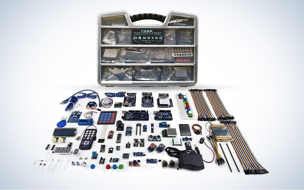 The GAR Monster Starter Kit for Arduino is our pick for the best WiFi Arduino starter kit.