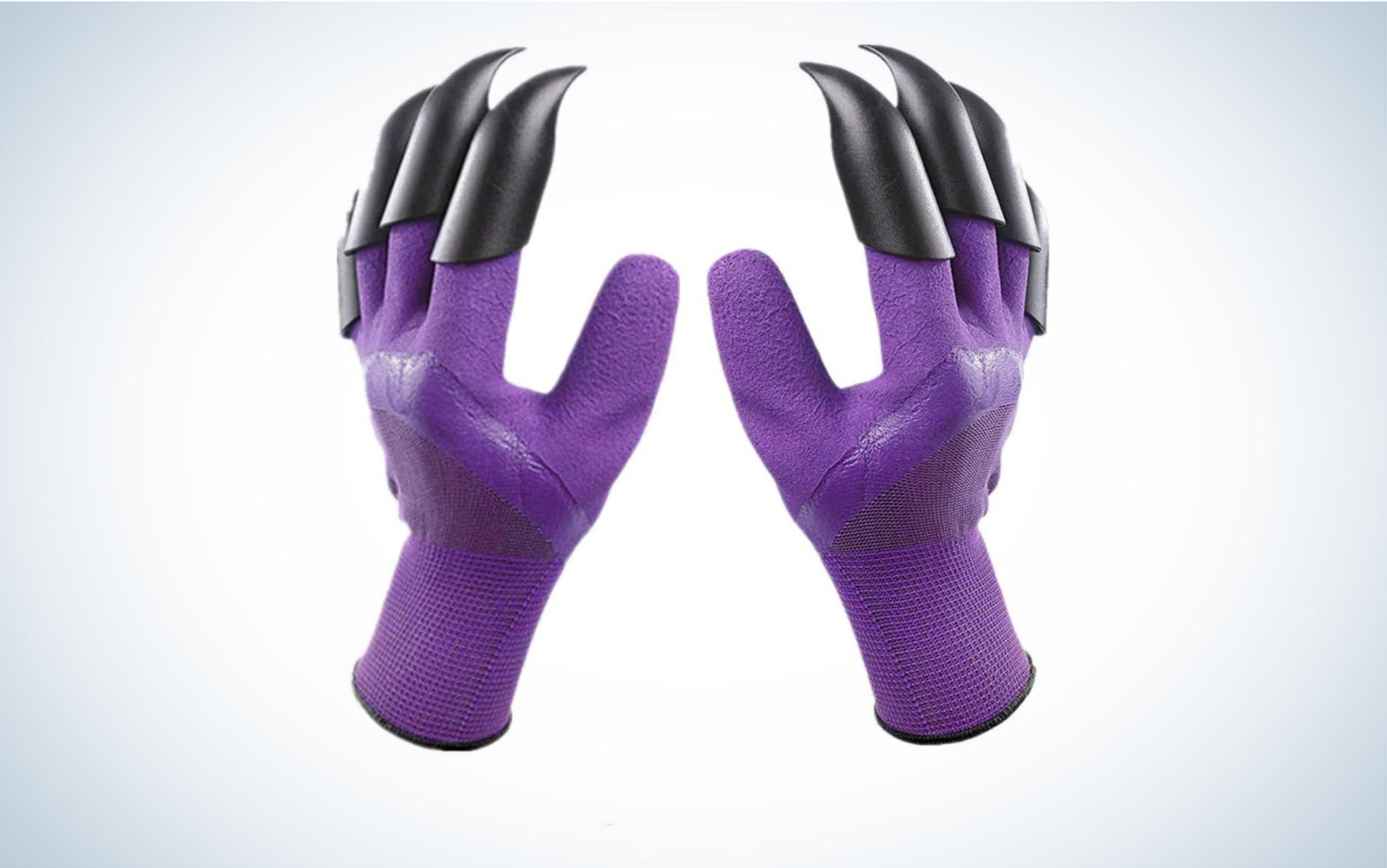 Clawed gardening gloves