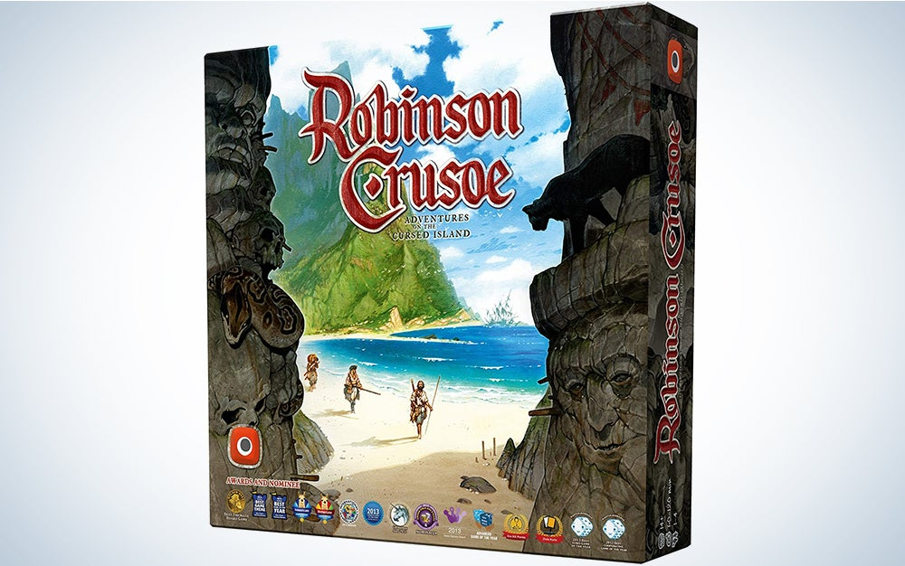 Portal Games Robinson Crusoe Adventures on the Cursed Island Board Game is the best 2 player board game or great for groups.
