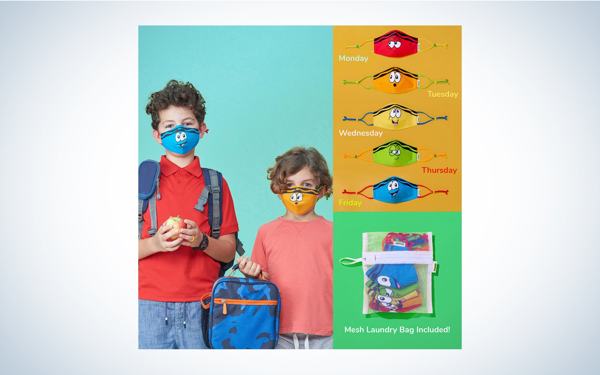 Colorful kids masks
