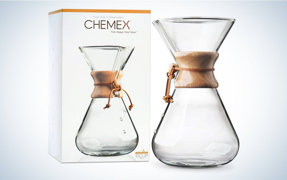 Chemex Pour-Over Glass Coffeemaker - Hand Blown Series makes the best coffee.