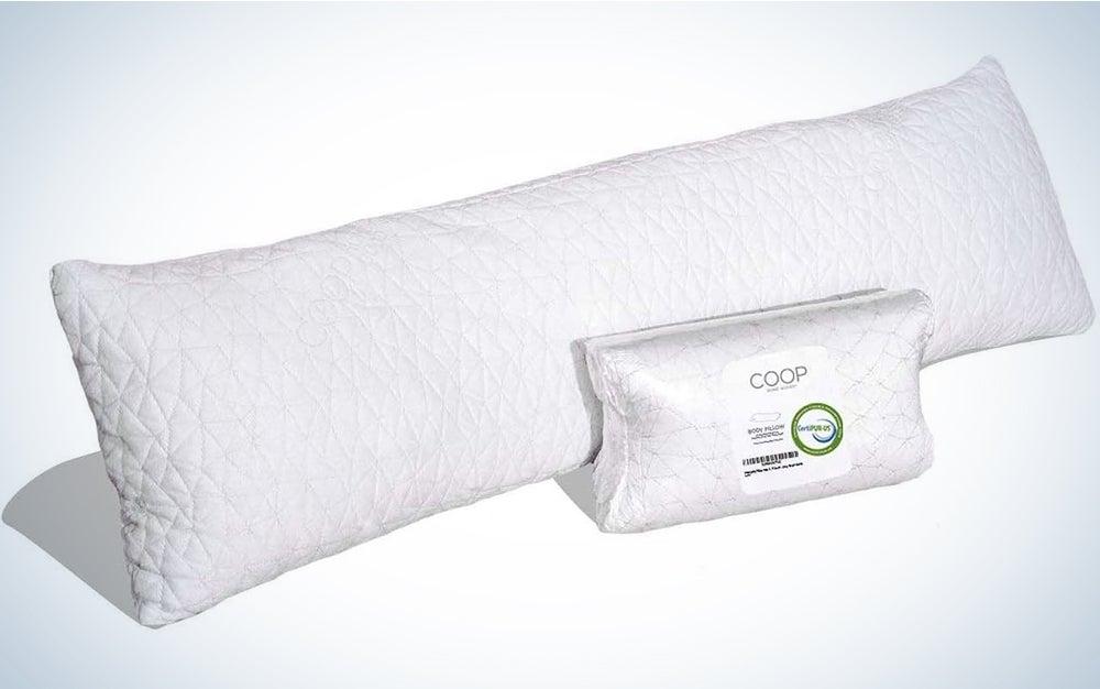 COOP HOME GOODS - Adjustable Body Pillow - Hypoallergenic Cross-Cut Memory Foam – Perfect for Pregnancy