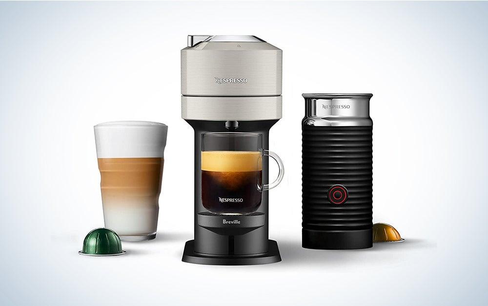 Vertuo Next Coffee and Espresso Machine with Aeroccino NEW by Breville, Light Grey, Single Serve Coffee & Espresso Maker