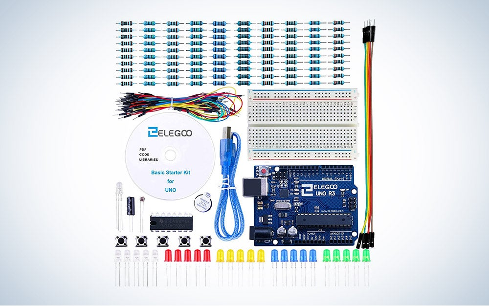 The Elegoo UNO Project Basic Starter Kit is our pick for the best value Arduino starter kit.