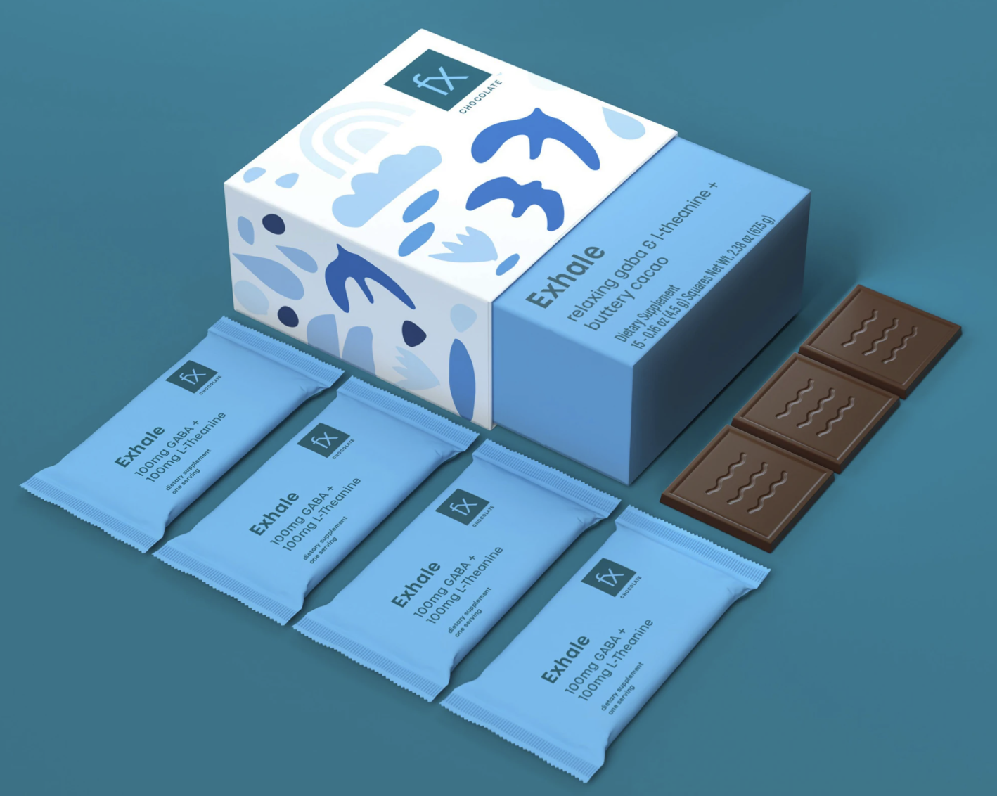 a box of chocolate on a blue background