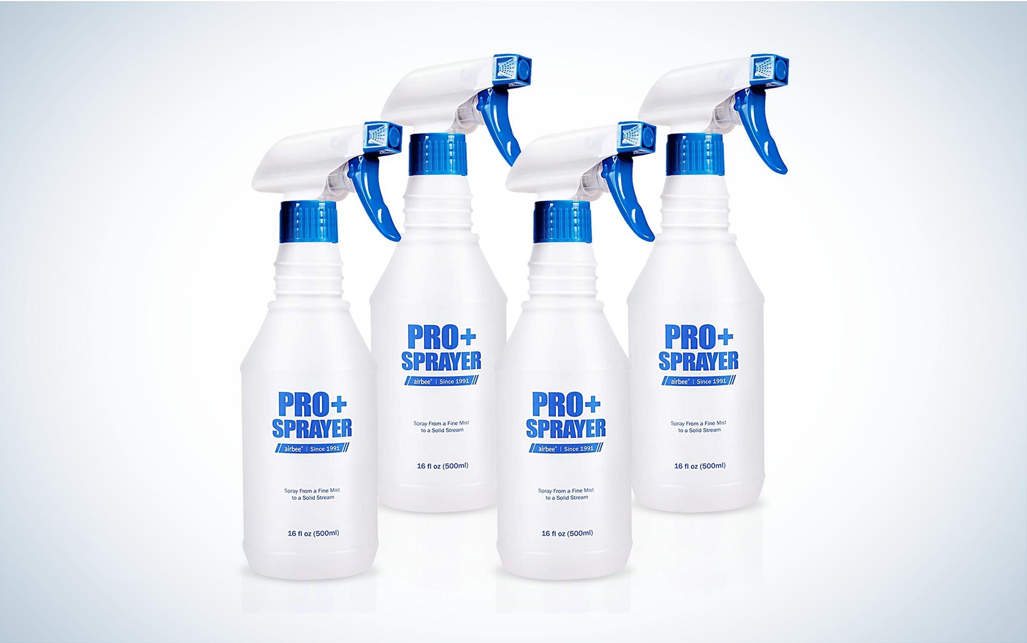 Four spray bottles
