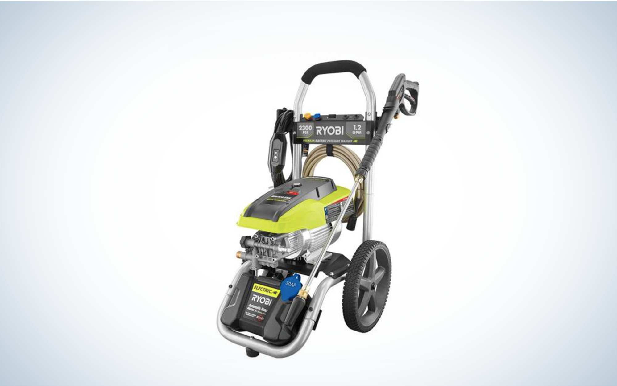 electric-powered power washer