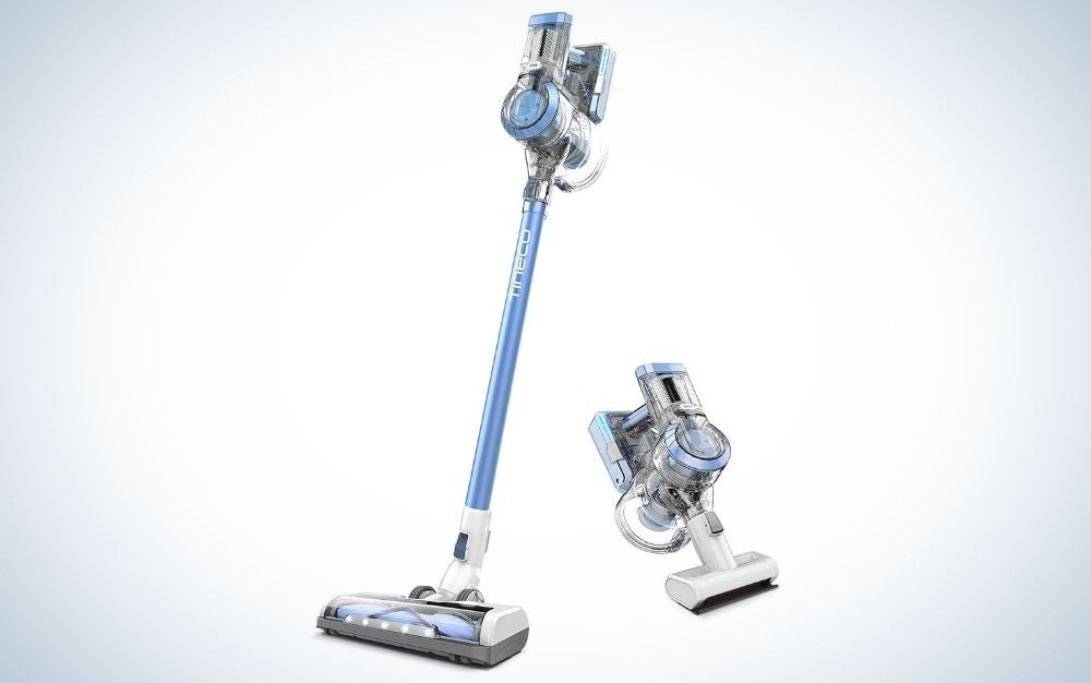 Light weighted, moonstone cordless vacuum cleaner with battery powered