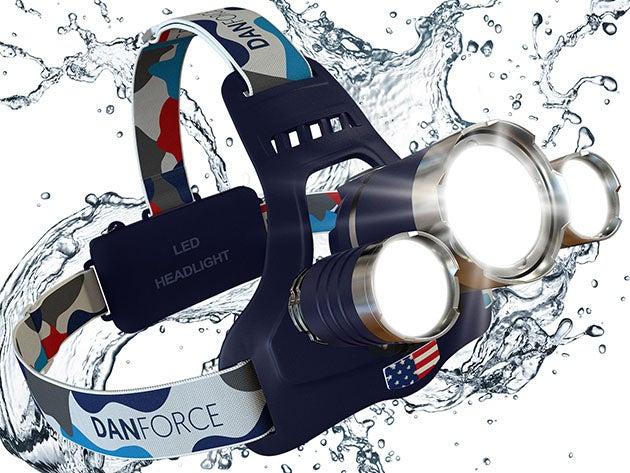 DanForce Bold-S 1080 Lumen Rechargeable Triple Headlamp (Apollo)