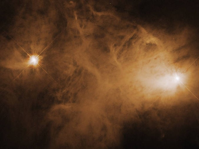 Hubble captured this image of the hazy reflection nebula Caldwell 68 using its Wide Field and Planetary Camera 2.