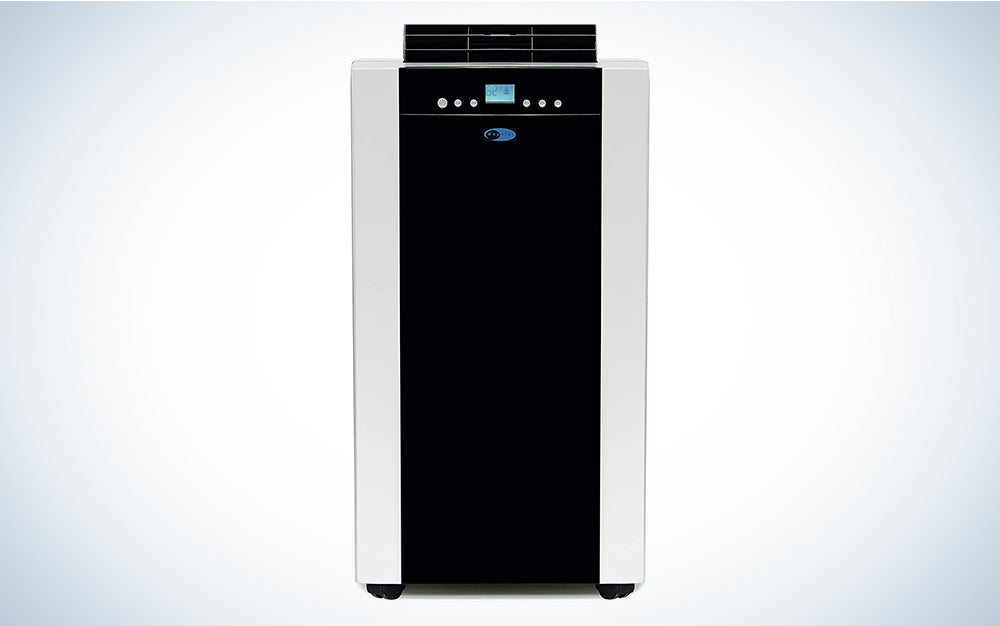 Whynter ARC-14S 14,000 BTU Dual Hose Portable Air Conditioner, Dehumidifier, Platinum And Black & ARC-WK-DUALN Plastic Window Kit is one of the best portable air conditioners on the market.