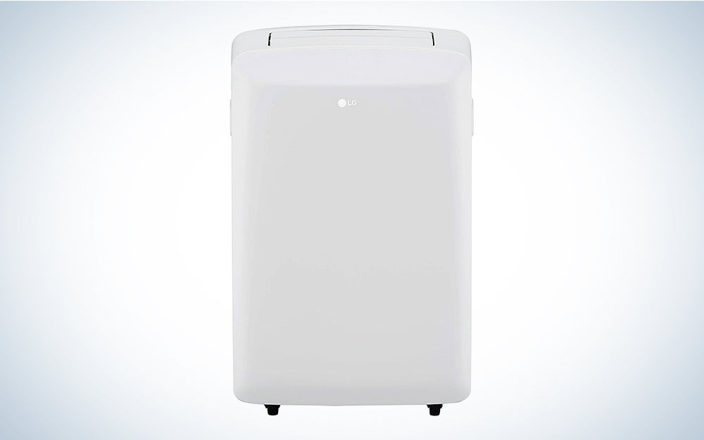LG LP0817WSR 8,000 BTU White Portable Air Conditioner - Rooms up to 200 Sq. Ft is the best small portable air conditioner.