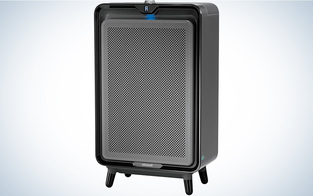 Bissell Smart Purifier with HEPA and Carbon Filters for Large Room and Home, Quiet Bedroom Air Cleaner for Allergies, Pets, Dust, Dander, Pollen, Smoke, Odors, Auto Mode is one of the best HEPA air purifiers