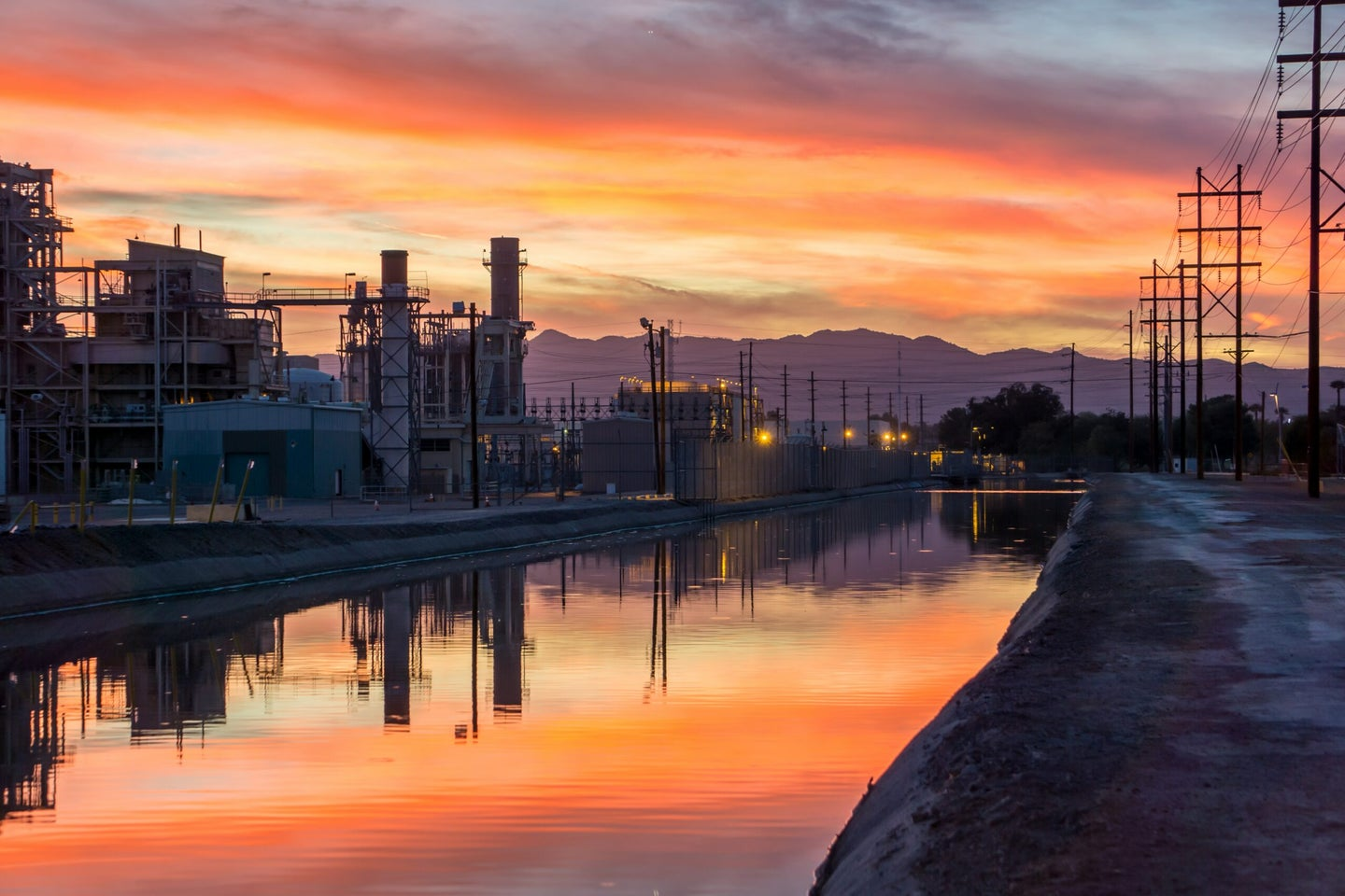 power plant on river in arizona