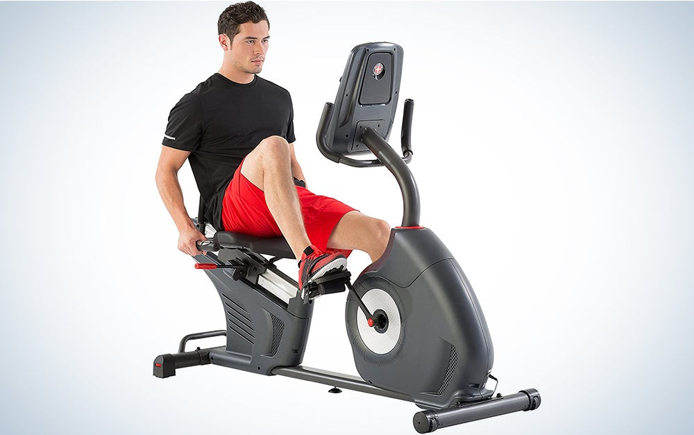 Schwinn Recumbent Bike is a great piece of home workout equipment for a home gym.